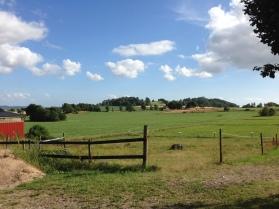 Den underbara utsikten från Annes gård